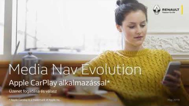 Renault Media Nav Evolution Apple CarPlay alkalmazással