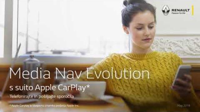 Renault Media Nav Evolution s suito Apple CarPlay