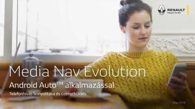 Renault Media Nav Evolution Android Auto alkalmazással